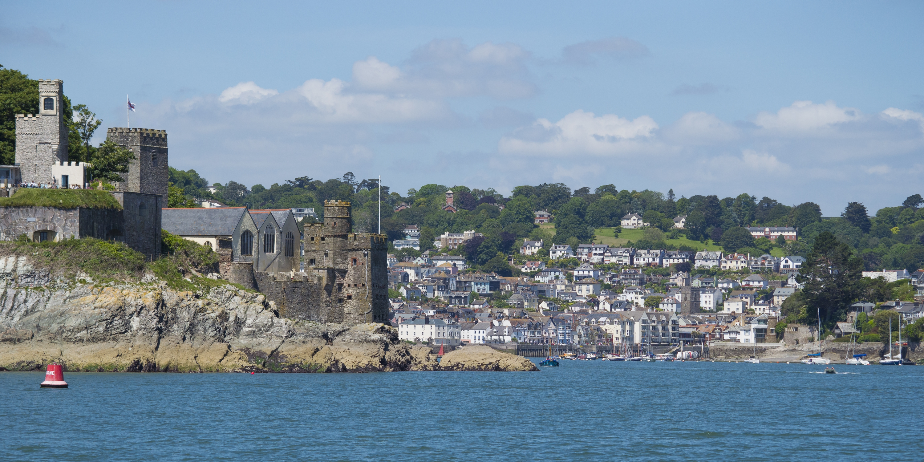 Dartmouth Castle and harbour