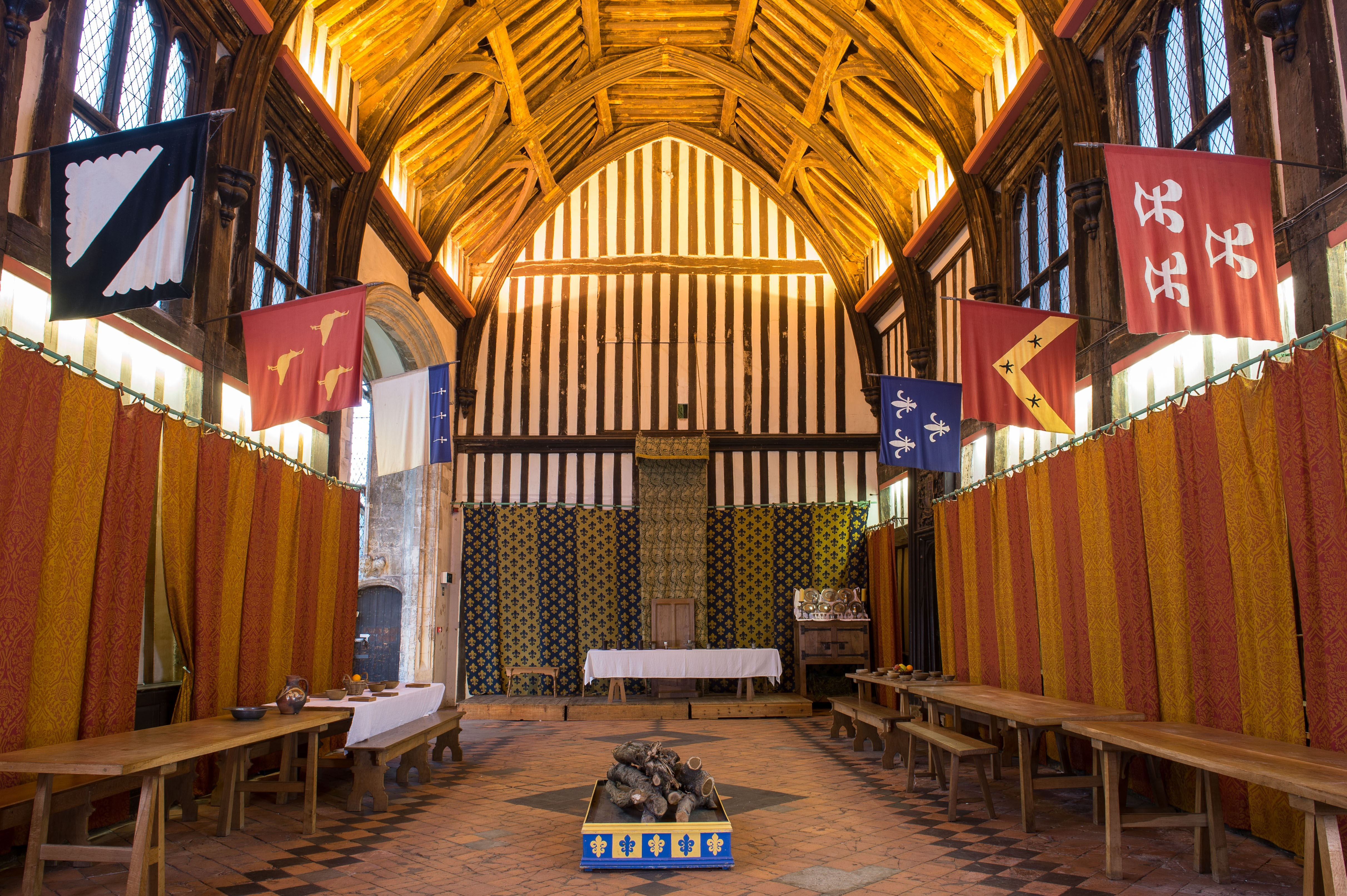 The Great Hall at Gainsborough Old Hall