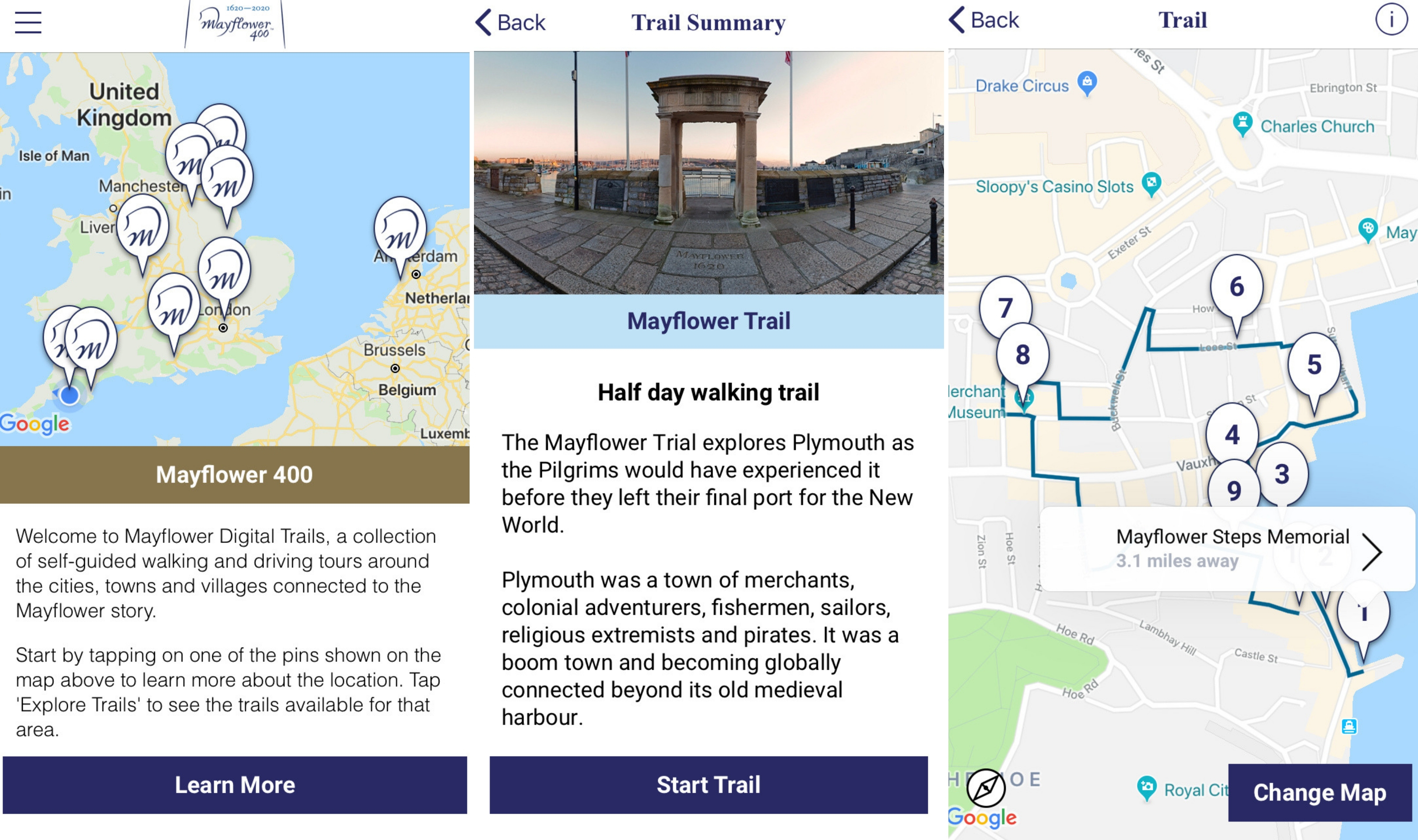 Mayflower Trails App