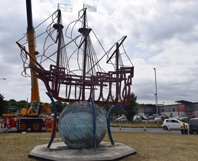 Mayflower sculpture Harwich