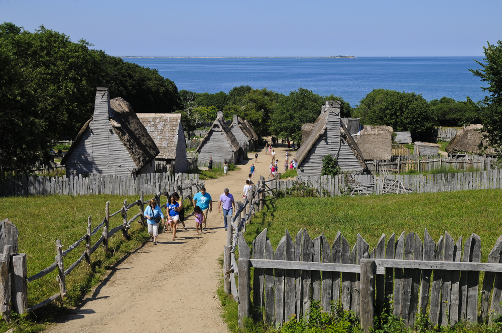 The Plimoth Plantation recreation of the village
